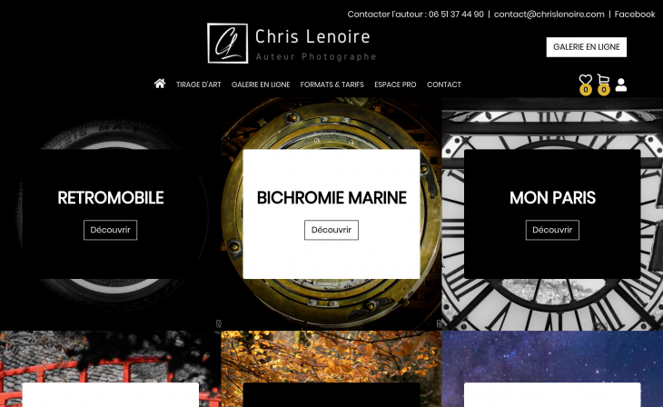 Galerie de photo du site Chris Lenoire